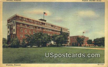 Huston Nurses Home, Wesley Hospital - Wichita, Kansas KS Postcard