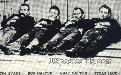 Dalton Gang - Coffeyville, Kansas KS Postcard