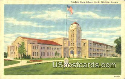 Wichita High School - Kansas KS Postcard