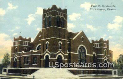 First ME Church - Hutchinson, Kansas KS Postcard