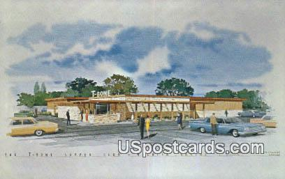 T-Bone Supper Club - Wichita, Kansas KS Postcard
