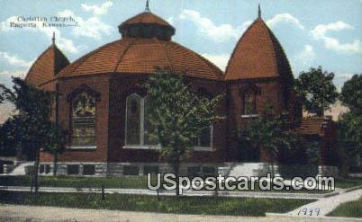Christian Church - Emporia, Kansas KS Postcard