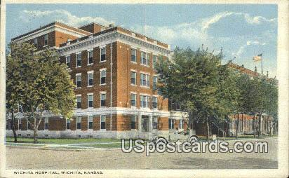 Wichita Hospital - Kansas KS Postcard