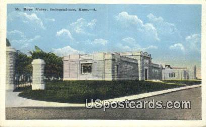 Mt Hope Abbey - Independence, Kansas KS Postcard