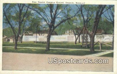 Free Tourist Camping Ground - Emporia, Kansas KS Postcard