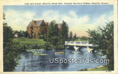 Emporia Teachers College - Kansas KS Postcard