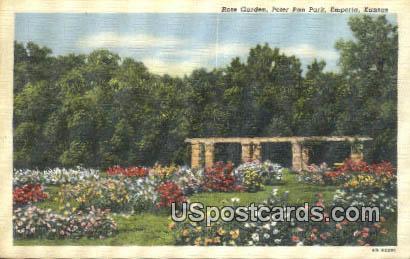 Rose Garden, Peter Pan Park - Emporia, Kansas KS Postcard