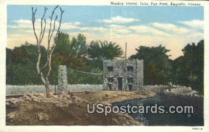 Monkey Island, Peter Pan Park - Emporia, Kansas KS Postcard