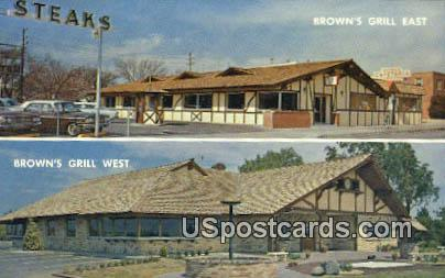 Brown's Grill East - Wichita, Kansas KS Postcard
