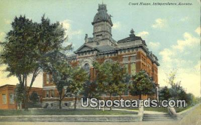 Court House - Independence, Kansas KS Postcard