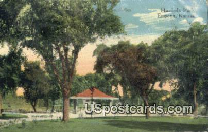 Humboldt Park - Emporia, Kansas KS Postcard