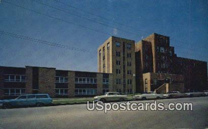 AT & SF Hospital - Topeka, Kansas KS Postcard