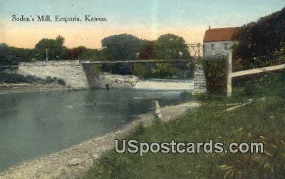 Soden's Mill - Emporia, Kansas KS Postcard