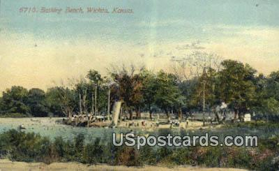 Bathing Beach - Wichita, Kansas KS Postcard