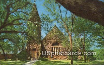 Main Post Protestant Chapel - Fort Riley, Kansas KS Postcard