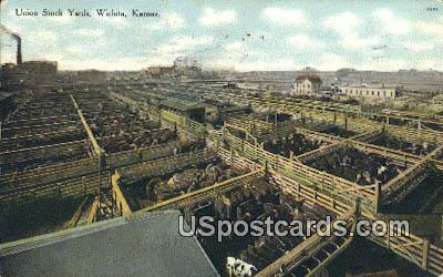 Union Stock Yards - Wichita, Kansas KS Postcard