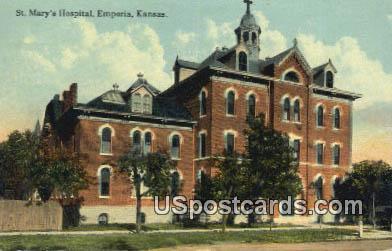 St Mary's Hospital - Emporia, Kansas KS Postcard