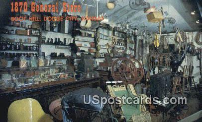1870 General Store - Dodge City, Kansas KS Postcard