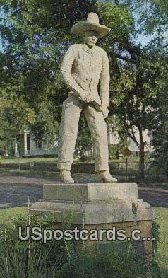 Cowboy Monument, Boot Hill - Dodge City, Kansas KS Postcard
