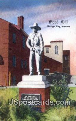 Boot Hill - Dodge City, Kansas KS Postcard