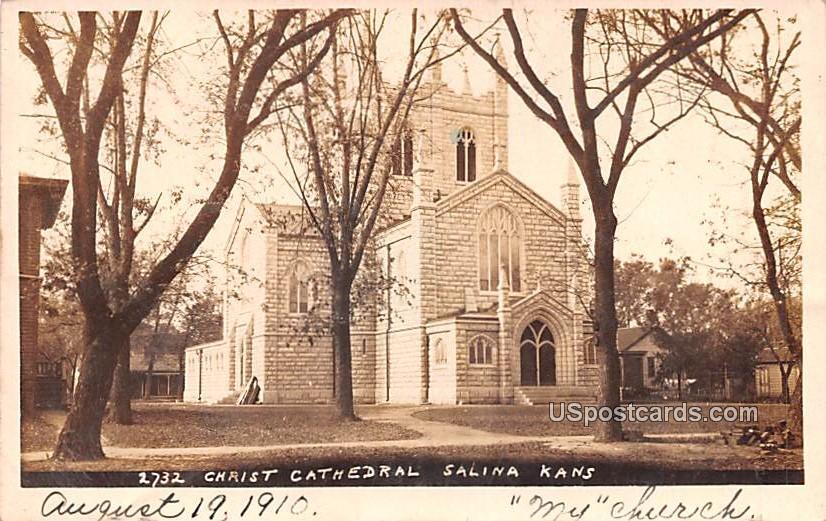Christ Cathedral - Salina, Kansas KS Postcard