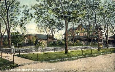 A.A. Robinson Residence - Topeka, Kansas KS Postcard