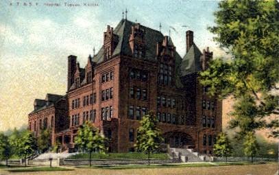 A.T. & S.F. Hospital - Topeka, Kansas KS Postcard