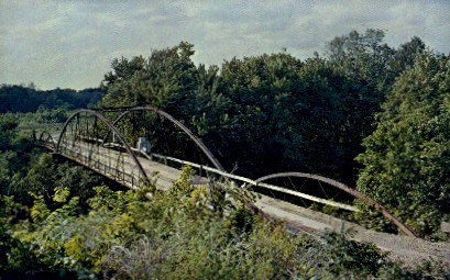 Old Military Bridge - Fort Scott, Kansas KS Postcard