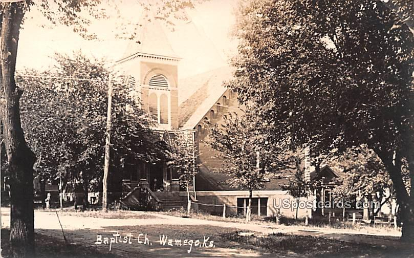 Baptist Church - Wamego, Kansas KS Postcard