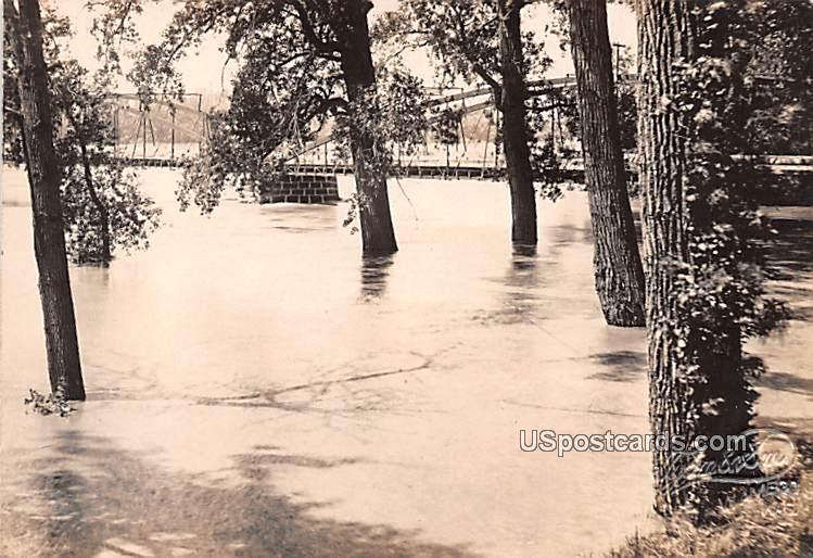 Flood June 1908 - Wamego, Kansas KS Postcard
