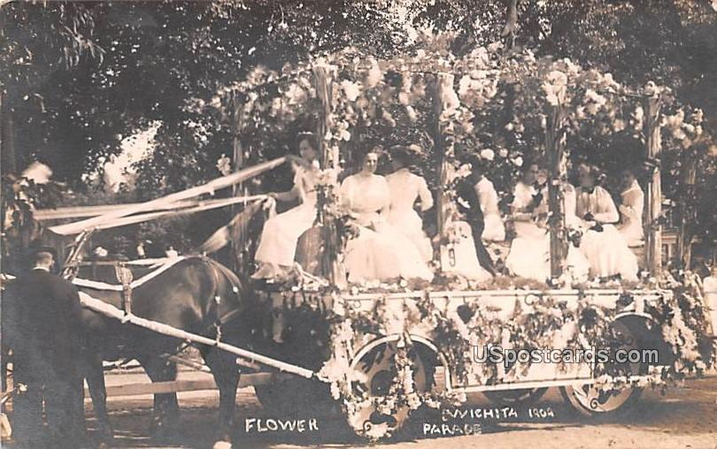 Flower parade - Wichita, Kansas KS Postcard