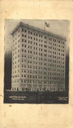 Bitting Block - Wichita, Kansas KS Postcard