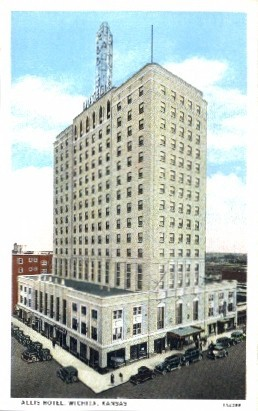 Allis Hotel  - Wichita, Kansas KS Postcard