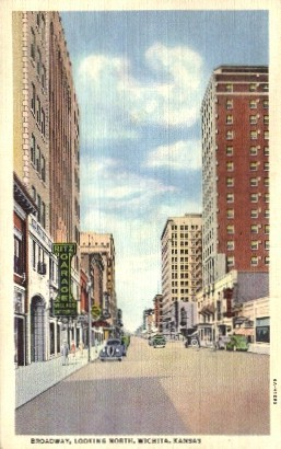 Broadway North - Wichita, Kansas KS Postcard