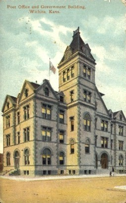 Post Office & Government Bldg. - Wichita, Kansas KS Postcard