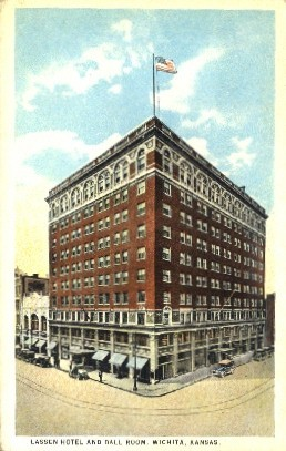 Lassen Hotel & Ball Room - Wichita, Kansas KS Postcard