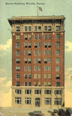 Beacon Bldg. - Wichita, Kansas KS Postcard
