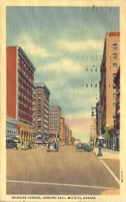 Douglas Ave. East - Wichita, Kansas KS Postcard