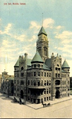 City Hall - Wichita, Kansas KS Postcard