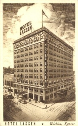 Hotel Lassen - Wichita, Kansas KS Postcard