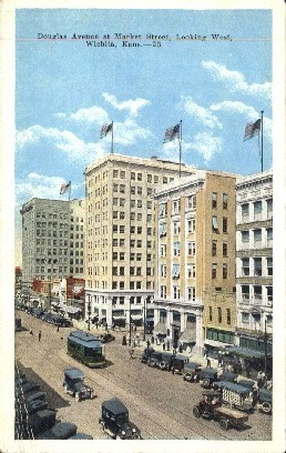 Douglas Ave. West - Wichita, Kansas KS Postcard