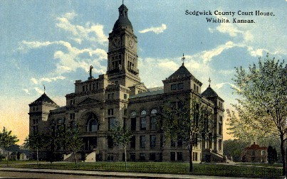 Sedgwick County Court House - Wichita, Kansas KS Postcard