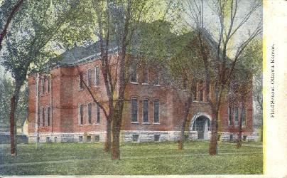 Field School - Ottawa, Kansas KS Postcard