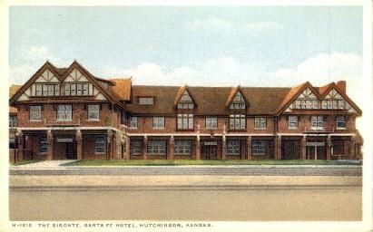 The Bisonte, Santa Fe Hotel - Hutchinson, Kansas KS Postcard