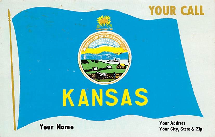 Kansas State Flag KS