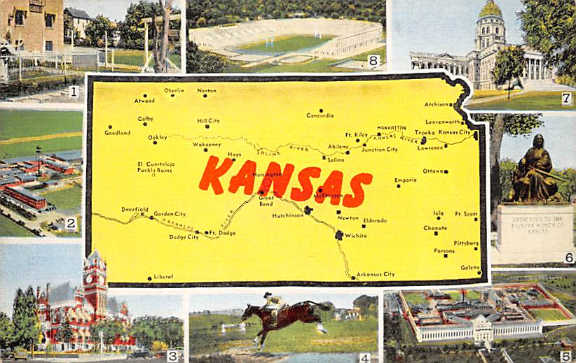 Kansas State Map KS