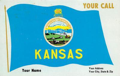 Kansas State Flag KS