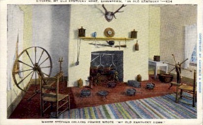 Kitchen, My Old Kentucky Home - Bardstown Postcard