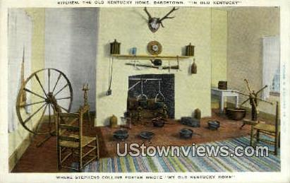 Kitchen My Old Kentucky Home - Bardstown Postcard