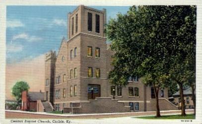 Central Baptist Church - Corbin, Kentucky KY Postcard